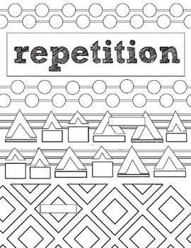Principles of Design, Repetition, Review Activity: Fill in