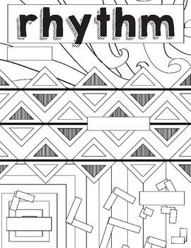 Principles of Design: Rhythm Coloring Book, Worksheet Art