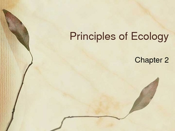 Principles of Ecology Powerpoint