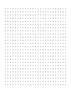 Principles of Ecology Word Search