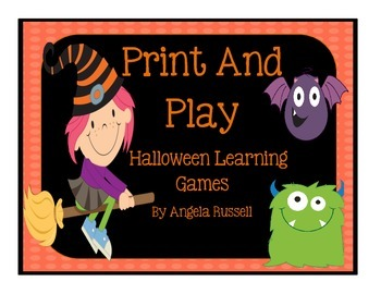 Halloween Learning Games ~ Print And Play