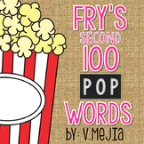 Print & Cut Fry's Second 100 Sight Words
