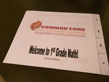 Print, Cut, and Combine: Tabbed CCSS for 1st grade book