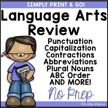 Print & Go 2nd Grade Language Review {NO PREP}