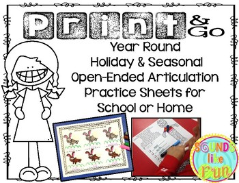 Print & Go: Holiday Open-Ended Articulation Practice