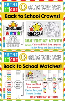 Print It Out OR Color Your Own BUNDLE: Crowns & Watches!