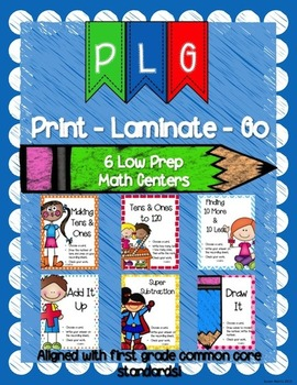 Print Laminate & Go Math Centers