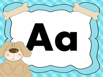 Print Letter Posters - Dog Theme