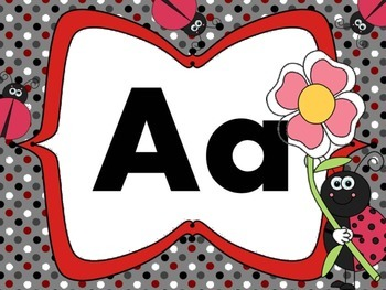 Print Letter Posters - Ladybug Theme