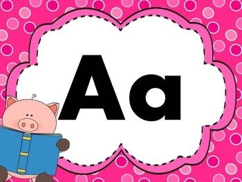 Print Letter Posters - Pig Theme