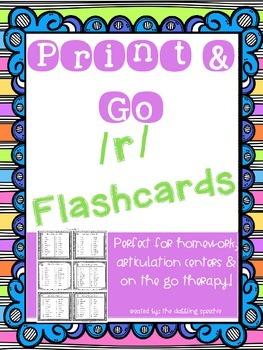 Print N' Go /R/ Flashcards