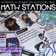 Print & Play Spiral Review Math Stations Growing Bundle
