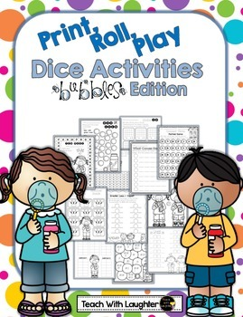 Print, Roll and Play Dice Activities (Bubbles Edition)