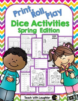 Print, Roll and Play Dice Activities (Spring Edition)