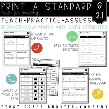 Print a Standard 2.G.1 {Recognize & Draw Shapes w/ Specifi