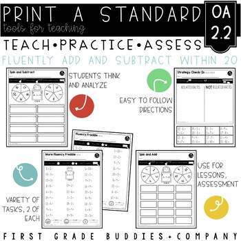 Print a Standard 2.OA.2 {Fluently Add and Subtract Within