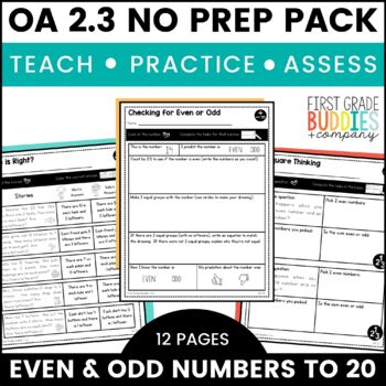 Print a Standard 2.OA.3 {Odd and Even - Numbers Up to 20}