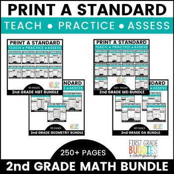 Print a Standard: 2nd GRADE BUNDLE! {No Prep Packs for All