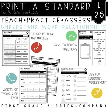 Print a Standard L 2.5  {Word Relationships and Nuances} N