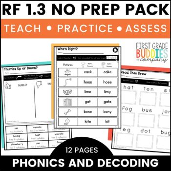 Print a Standard RF 1.3 {Know & Apply Phonics and Word Ana