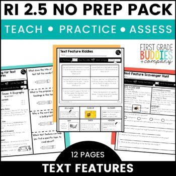 Print a Standard RI 2.5 {Text Features} No Prep