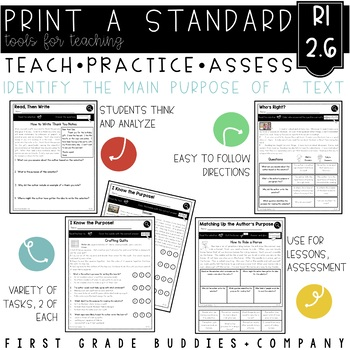 Print a Standard RI 2.6 {Determine the Main Purpose / Auth