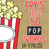 Print and Cut Fry's First 50 Sight Words