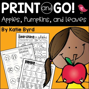 Print and Go! Apples, Pumpkins, & Leaves Fall Math and Lit