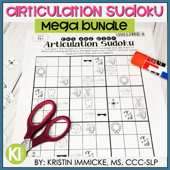 Articulation Sudoku MEGA BUNDLE - No Prep Articulation Practice