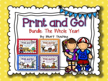 Print and Go Bundle For the Whole Year! {NO PREP Literacy