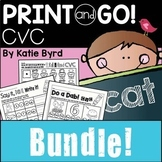 Print and Go! BUNDLE: CVC Word Work and Literacy Practice