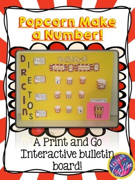 Print and Go Interactive Math Bulletin Board {Create a Number}