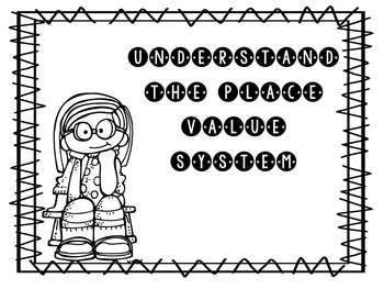 Print and Go Math Booklet: Understand the Place Value Syst