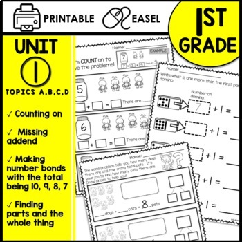 Print and Go Math Sheets (missing addends, number bonds -