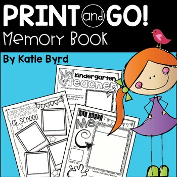 Print and Go! Memory Book ~ Writing supplements for the en