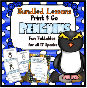 Print and Go Penguins ~ Fun Foldables