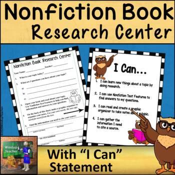Research Center Reproducible  *Nonfiction Book Version* Pr