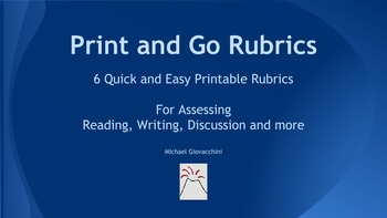 Rubrics for Assessing Analysis in Reading, Writing, Discus
