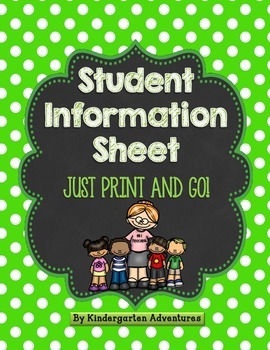 Print and Go Student Information Sheet