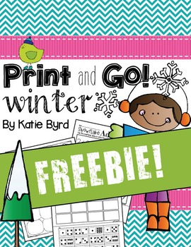 FREEBIE! Print and Go! Winter Math and Literacy (NO PREP)