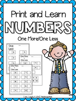 Print and Learn- NUMBERS {One More/One Less}