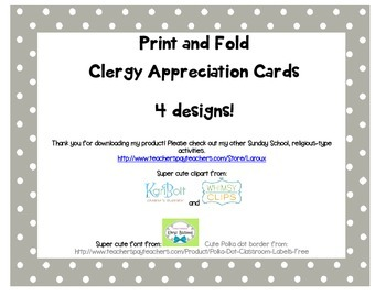 Print and fold Cleregy appreciation cards for students to