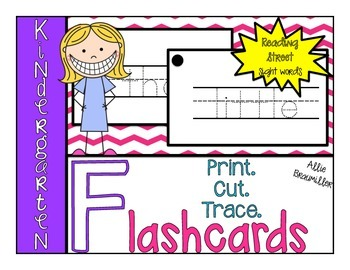 Print.Cut.Trace. Kindergarten High Frequency Word Reading