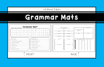 Printable 11x17, 2-sided GRAMMAR MAT for grades 6-12!