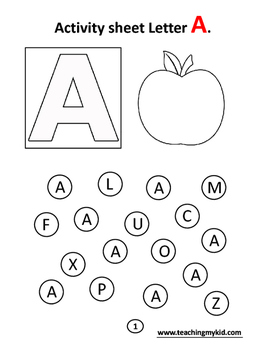 Alphabets coloring activity book