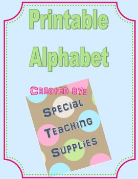 Printable Alphabet A-Z with Pictures