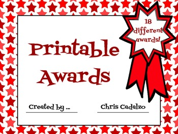 End of the Year Awards Certificates - Printable