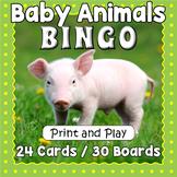 Printable Baby Animals Bingo Game