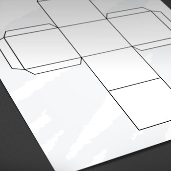 Printable: Blank Cube Template