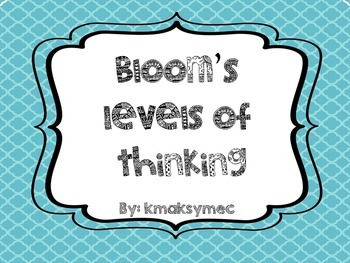 Printable Bloom'sThinking Posters